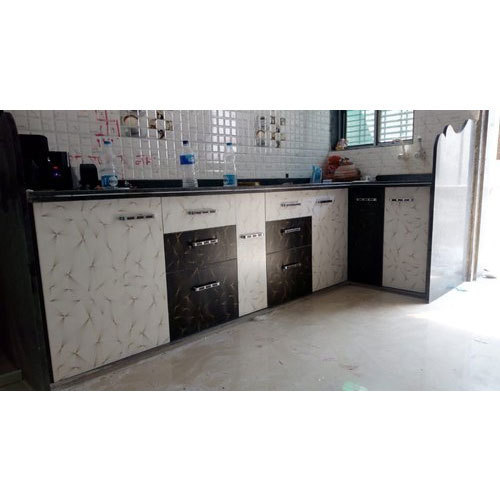 I Shape Laminated Kitchen Cabinet