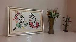 Ganesh Couple Name Frame