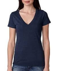 Deep V-Neck Ladies T-Shirt