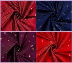 Golden Weaving Work Taffeta Silk Fabric