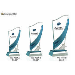 Glass Emerging Star Trophies