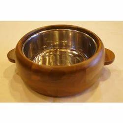 Lal10 Round Pine Wood Bowl