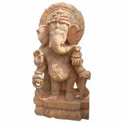 Sandstone Ganesh Stone