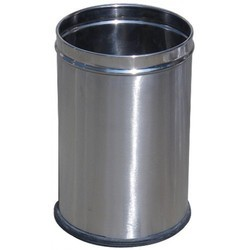 Stainless Steel Open Plain Dustbin