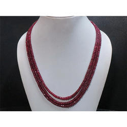 Ruby Gemstone Beaded Necklace