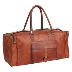 Vintage Leather Duffel Bag, Travel Bag, Luggage