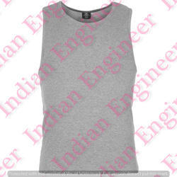 Men's Plain Round Neck  Sleeveless T Shirt