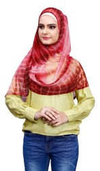 Net Lycra Stitched 2 Loop Scarf Hijab