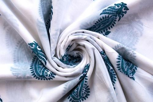 Dressmaking Hand Block Print Crafting Cotton Voile Fabric Sewing By The Yard