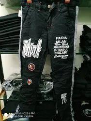 Man Printed Denim Jeans
