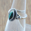 BEAUTIFUL 925 STERLING SILVER JEWELRY MALACHITE GEMSTONE RING WR-5033