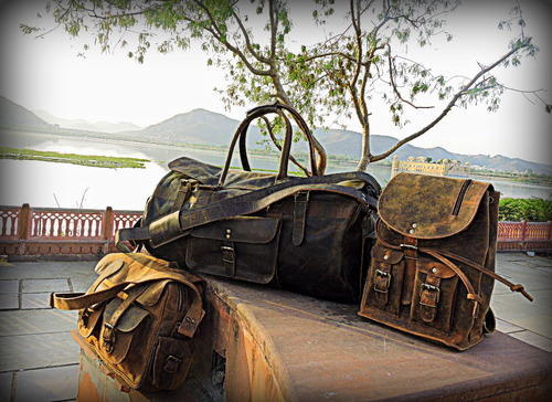 544e630ecf Genuine Goat Leather Bags - Vintage Leather Designer Bags Exporter from  Jaipur