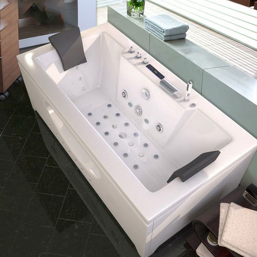 White Acrylic Jacuzzi Bath Tub 3 5 Mm