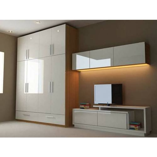 Modern Home Designs From Interior Decorators In Noida  C2NyYXBlLTEtRzRDVGZ4: PVC Modular Wardrobe, Polyvinyl Chloride Wardrobe, पीवीसी