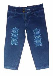 Girls Dobby Kids Jeans