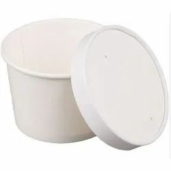 Biodegradable Paper Food Container With Lid 350 mL