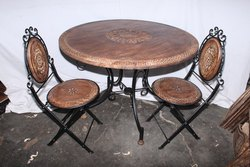 Anza Handicrafts Brown And Black Wrought Iron Furniture