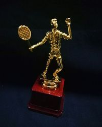 Badminton Statue Award Trophy