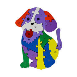 Alphabet and Number Wooden Jigsaw Puzzle - Dog (1TNG274)