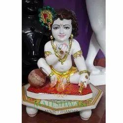 Marble Sitting Krishna Moorti