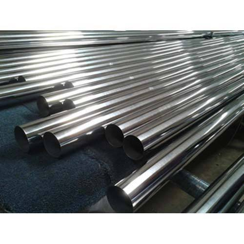 Round Welded Stainless Steel Pipe, For Industrial, Commercial, Material Grade: 202