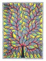 Madhubani Painting Of Fish Tree