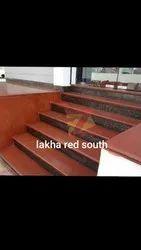 Polished Big Slab Lakha Red Granite Slab, Thickness: 15-20 mm, for Countertops