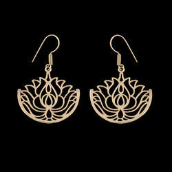New Designed Mandala Lotus Brass Earrings