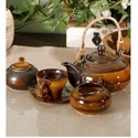 Ceramic Multi Glaze Tea Set