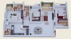 Isometric Plan 3 Bhk