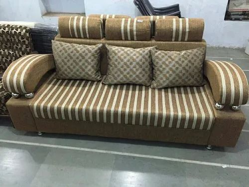 Febric Brown Sofa Set For Home Warranty 5 Year Rs 12500 Piece Super Enterprises Id 21299703312