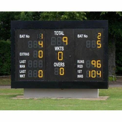 Stainless Steel Rectangle Cricket Score Board