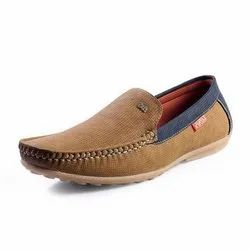 Brown And Blue Comfort Foam Men Casual Wear Loafers Shoes, Size: 6-10