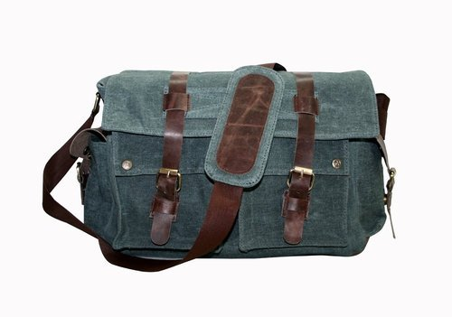 4d65d41893 Vintage Men s Canvas Messenger Shoulder Bag Military Crossbody Bags ...