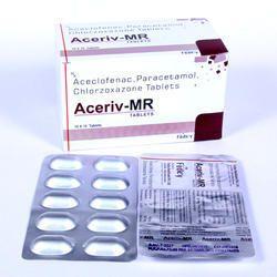 Aceclofenac100mg Paracetamol 325mg Chlorzoxazone 250mg