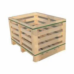 Rectangular Wooden Pallet Box, For Packaging, Packaging Size: 400-600 Kg