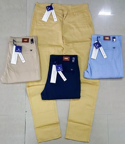 Mens Branded Trousers Branded Cotton Trousers Manufacturer From