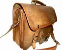 Front Pocket Leather Office Shoulder Bag