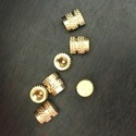 Natural Brass Round Brass Inserts, Packaging Type: Polybag, For Injection Moulding
