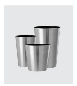 Silver Conical Lip Stainless Steel Planter ID - Stainless steel table with lip
