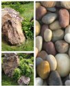 Garden Stone Pebble Stone Rock Boulder stone River polished pebble white black multi pebble stone