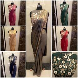 1e2e15859e Lycra Handmade Semi Stiched Party Wedding Saree Gown