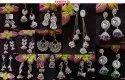 Brass Navratri Designer Oxidised Earrings For Women