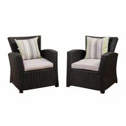 Universal Furniture Rattan and Wicker 2 Sofa Chair with Cushion