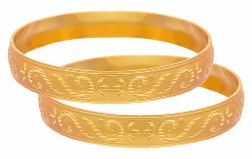 cacac31290a73 Jfl Traditional Ethnic One Gram Matt Gold Plated Bangles