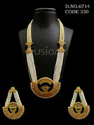 Pearl Beaded Antique Pendant Sets