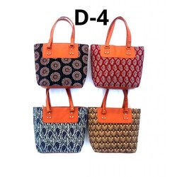 Ladies Ajrakh Print D4 Handicrafts Bags