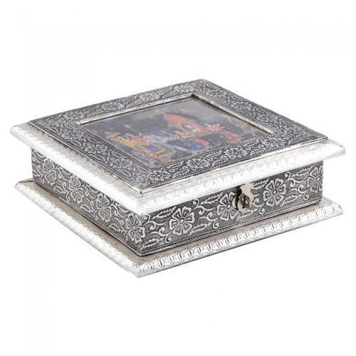 Designer Silver Dry Fruit Box