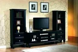 Black Wall Mounted Plywood TV Units for Home