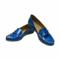 Takla Casual Wear Women Blue Loafers Shoes, Size: 4 - 8